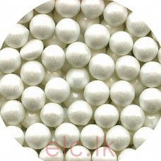 4mm PEARLY IVORY EDIBLE CACHOUS PEARLS 20G